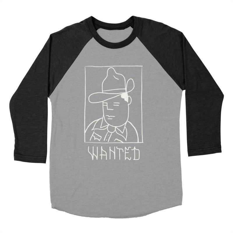 Wanted, Dead or Alive Men's Baseball Triblend Longsleeve T-Shirt by Dustin Klein's Artist Shop