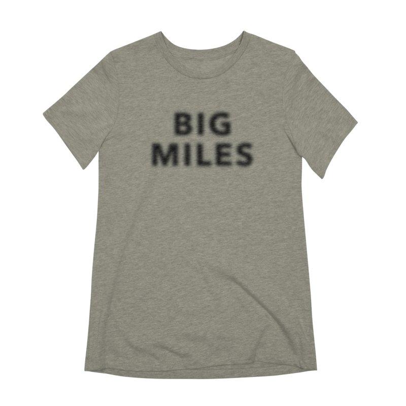 Big Miles blk Women's Extra Soft T-Shirt by Dustin Klein's Artist Shop