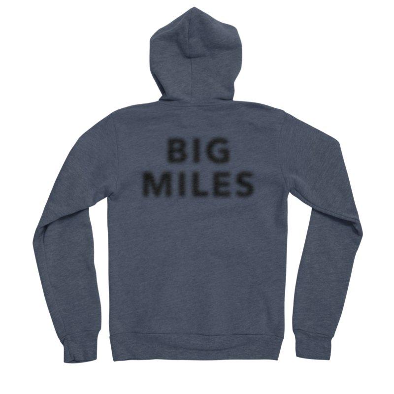 Big Miles blk Men's Zip-Up Hoody by Dustin Klein's Artist Shop
