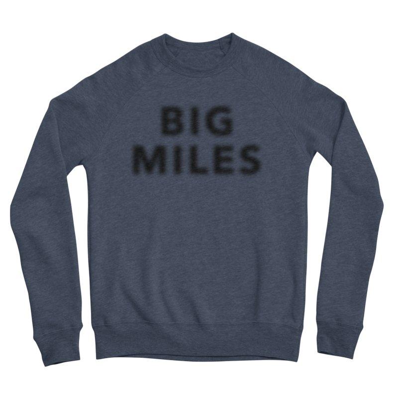Big Miles blk Men's Sponge Fleece Sweatshirt by Dustin Klein's Artist Shop