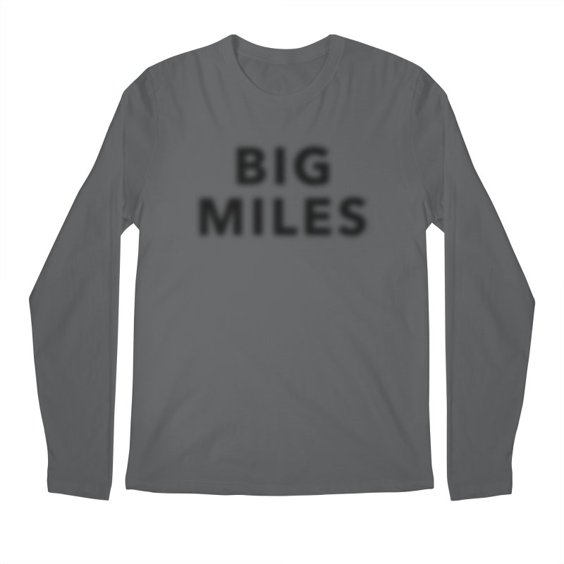 Big Miles blk Men's Regular Longsleeve T-Shirt by Dustin Klein's Artist Shop