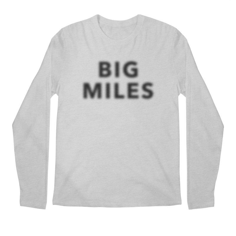 Big Miles blk Men's Regular Longsleeve T-Shirt by Dustin Klein's Artist Shop