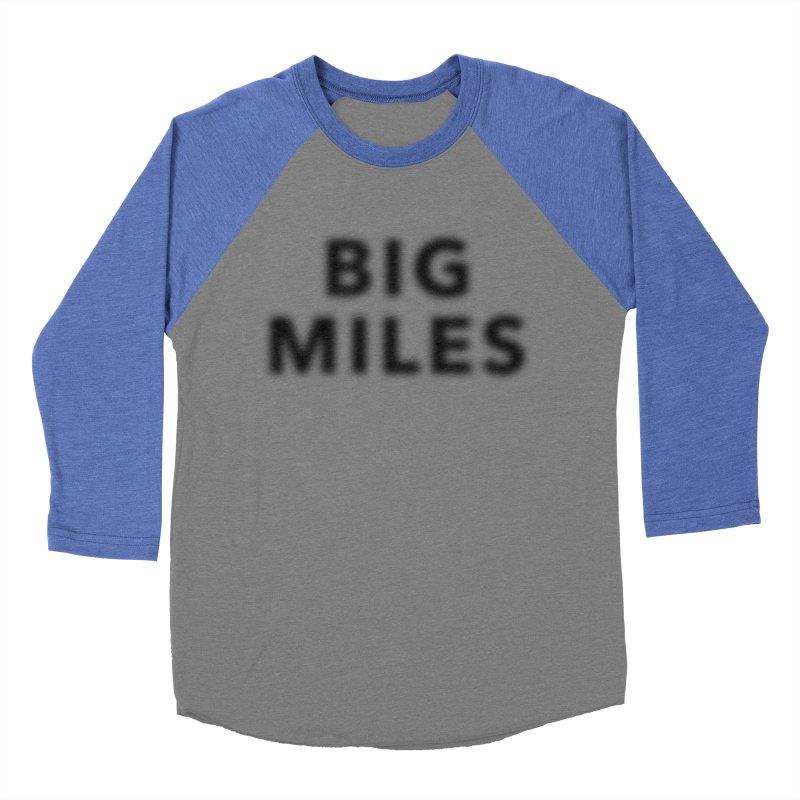 Big Miles blk Women's Baseball Triblend Longsleeve T-Shirt by Dustin Klein's Artist Shop