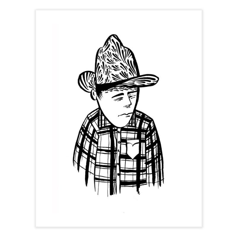 Commotion Cowboy Home Fine Art Print by Dustin Klein's Artist Shop