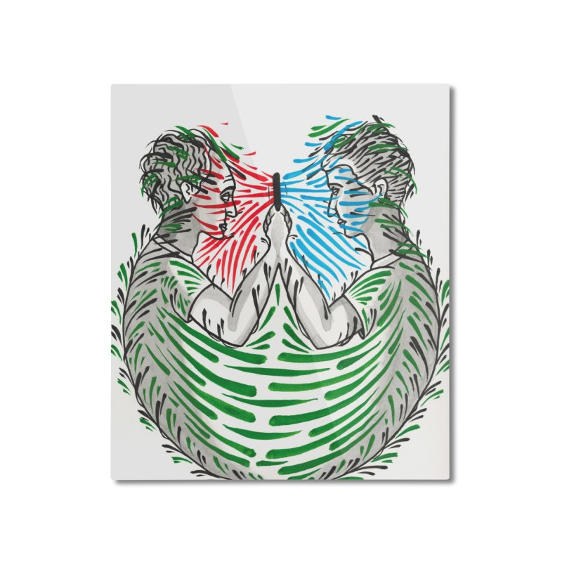 Alone Together Home Mounted Aluminum Print by Dustin Klein's Artist Shop