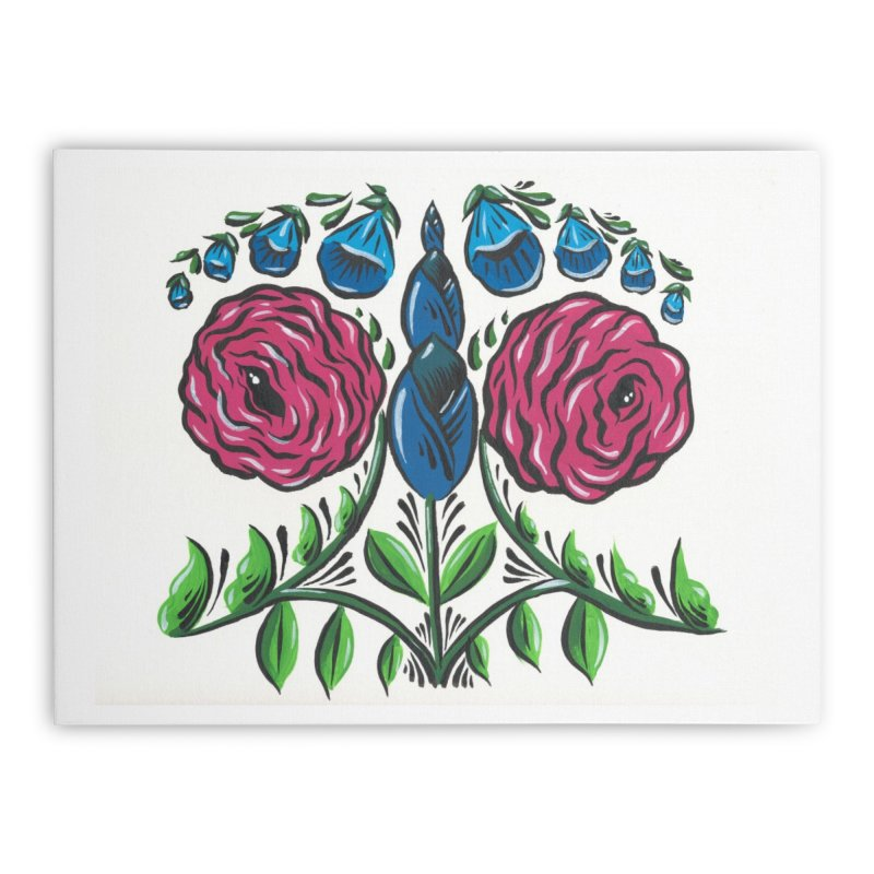 Drawing Flowers Home Stretched Canvas by Dustin Klein's Artist Shop