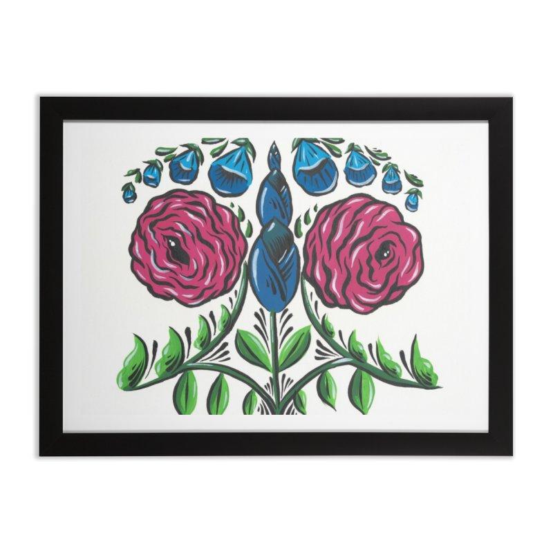 Drawing Flowers Home Framed Fine Art Print by Dustin Klein's Artist Shop