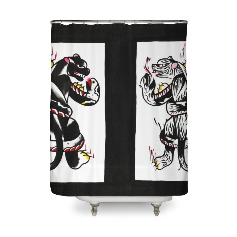 Panthers from Stream of Consciousness Home Shower Curtain by Dustin Klein's Artist Shop