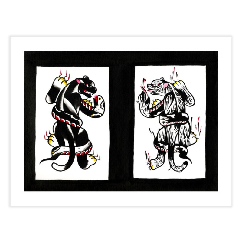 Panthers from Stream of Consciousness Home Fine Art Print by Dustin Klein's Artist Shop