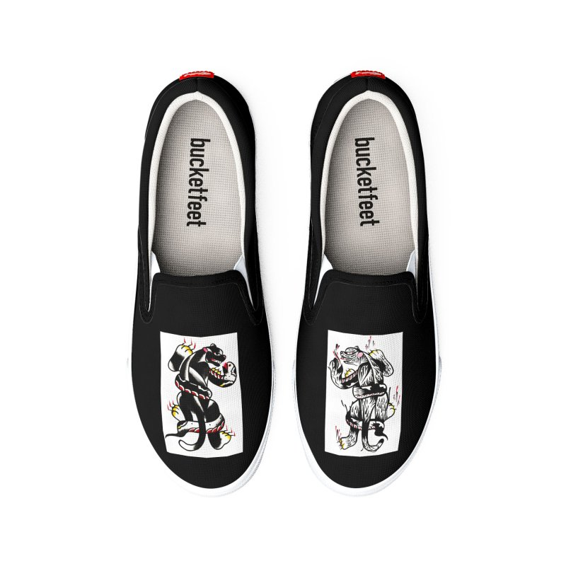 Panthers from Stream of Consciousness Men's Shoes by Dustin Klein's Artist Shop