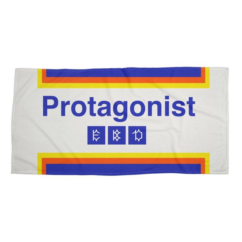 Team Protagonist Accessories Beach Towel by Dustin Klein's Artist Shop