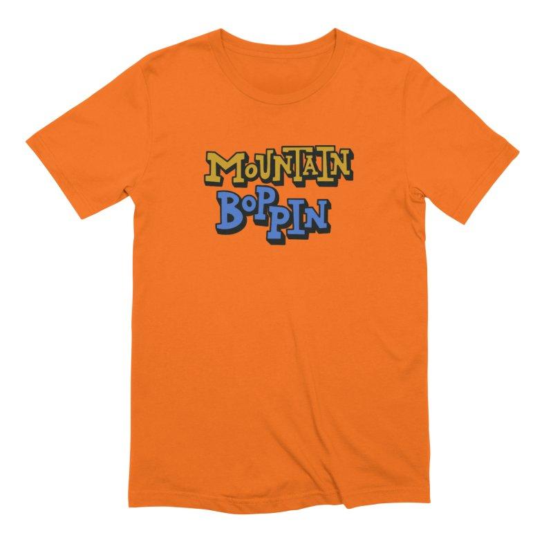Mountain Boppin Men's T-Shirt by Dustin Klein's Artist Shop