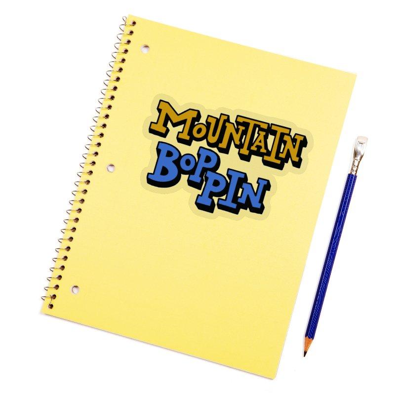 Mountain Boppin Accessories Sticker by Dustin Klein's Artist Shop