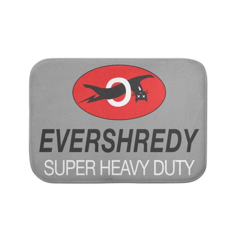Ever Shreddy Home Bath Mat by Dustin Klein's Artist Shop