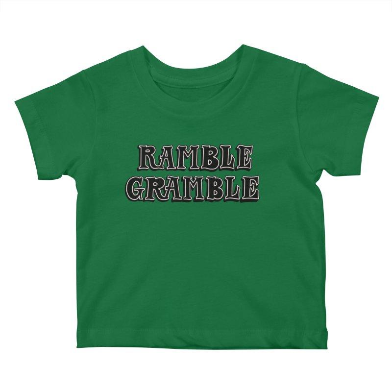 Ramble Gramble Kids Baby T-Shirt by Dustin Klein's Artist Shop