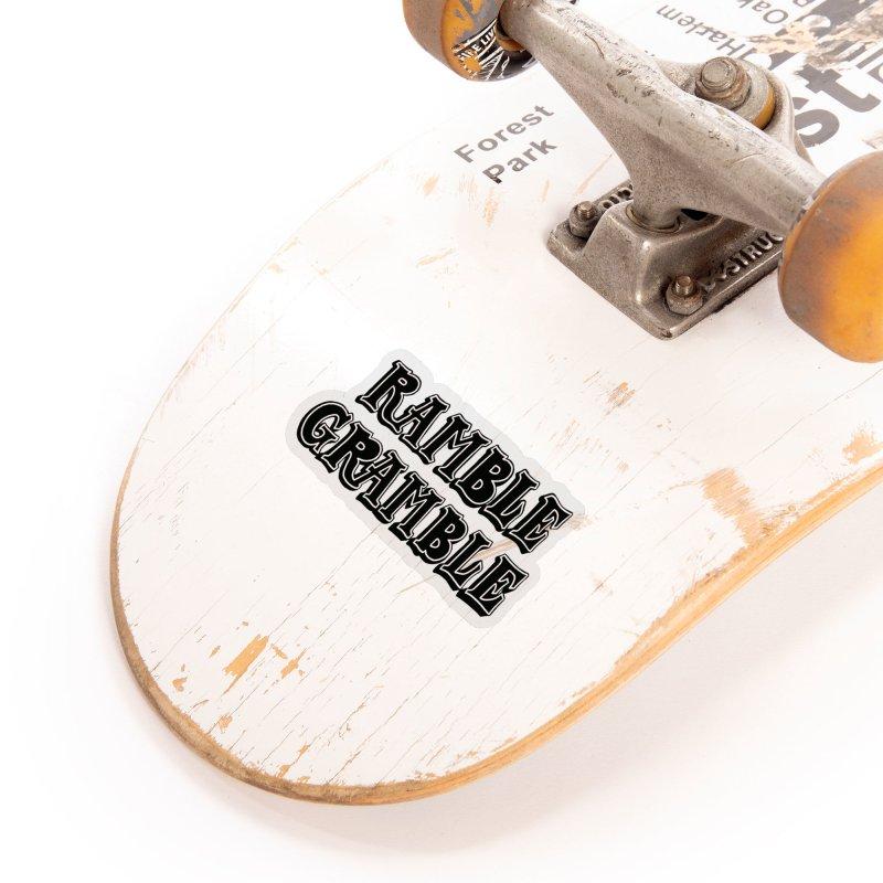 Ramble Gramble Accessories Sticker by Dustin Klein's Artist Shop