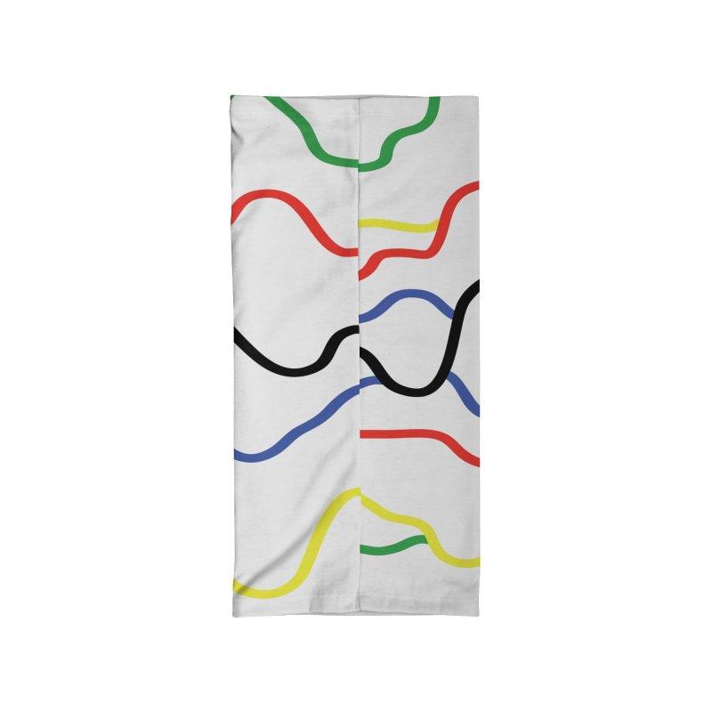 Pulsar Rainbow Accessories Neck Gaiter by Dustin Klein's Artist Shop