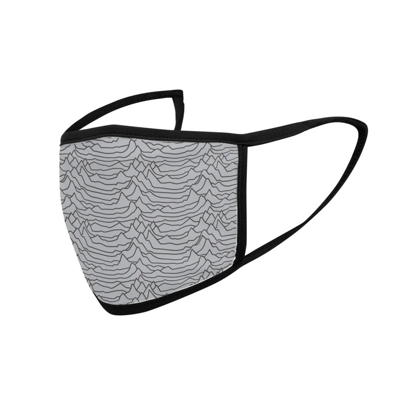 Pulsar Grey and BLK Accessories Face Mask by Dustin Klein's Artist Shop