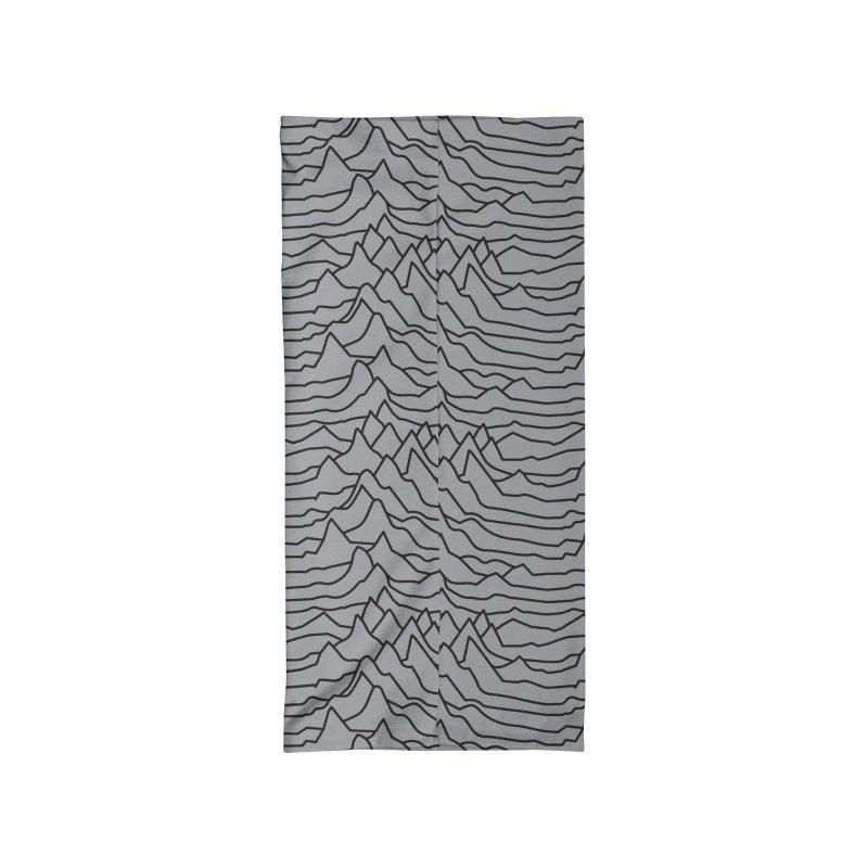 Pulsar Grey and BLK Accessories Neck Gaiter by Dustin Klein's Artist Shop