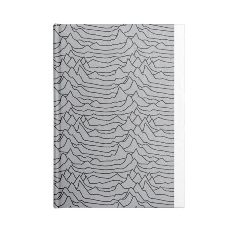 Pulsar Grey and BLK Accessories Notebook by Dustin Klein's Artist Shop