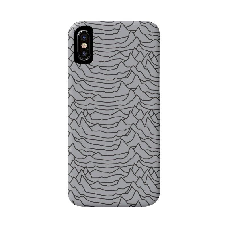 Pulsar Grey and BLK Accessories Phone Case by Dustin Klein's Artist Shop
