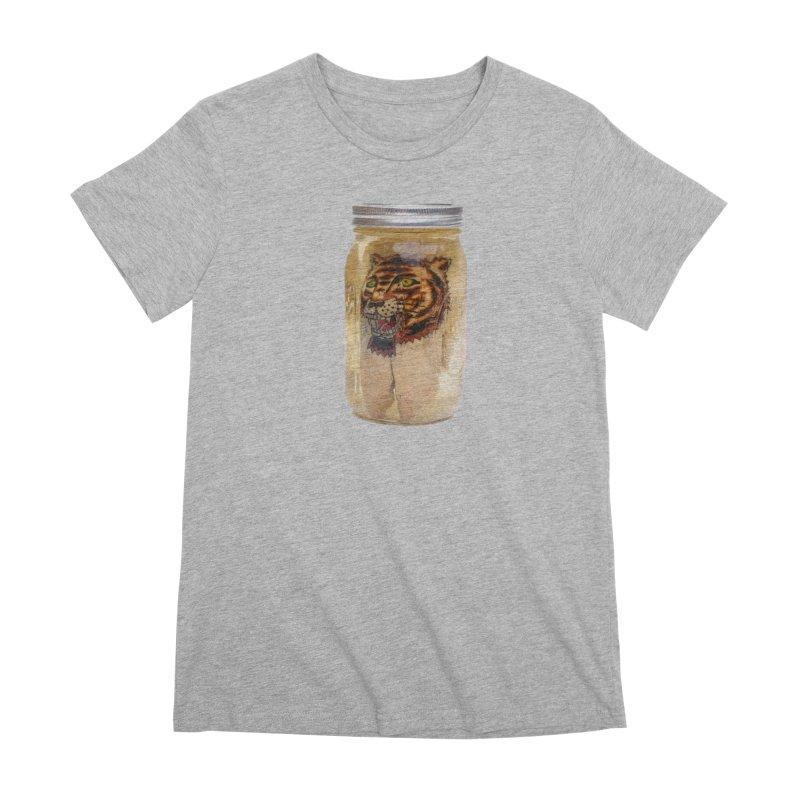 Tattooed Pigs Foot-Tiger Women's T-Shirt by Dustin Klein's Artist Shop