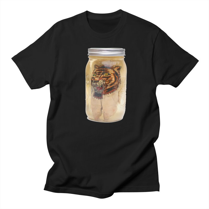 Tattooed Pigs Foot-Tiger Men's T-Shirt by Dustin Klein's Artist Shop