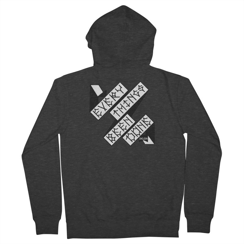 Everythings Been Done Men's Zip-Up Hoody by DustinKlein's Artist Shop