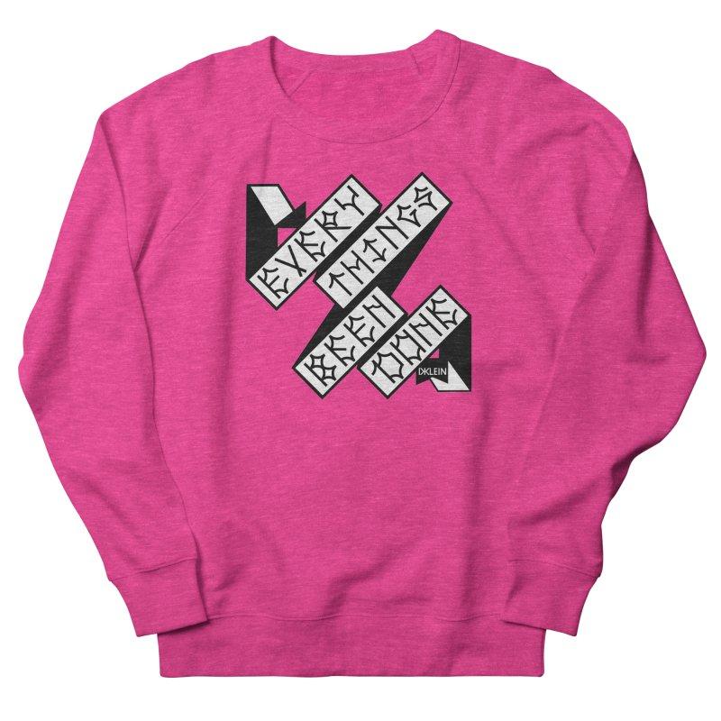 EBD FLEECE Women's French Terry Sweatshirt by DustinKlein's Artist Shop