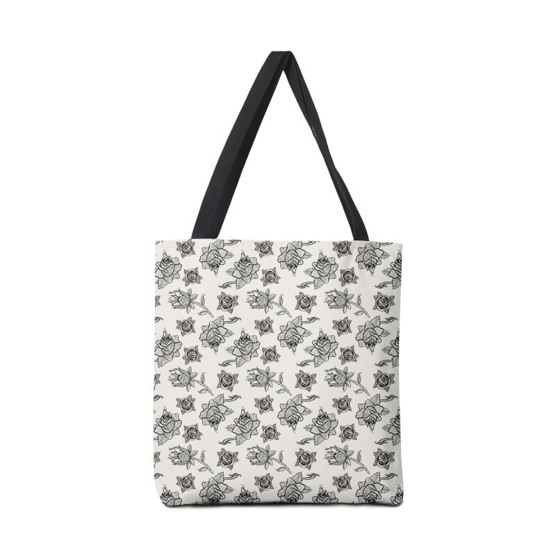Floral drawing Accessories Bag by DustinKlein's Artist Shop