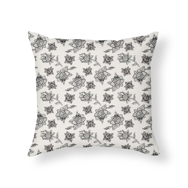 Floral drawing Home Throw Pillow by DustinKlein's Artist Shop
