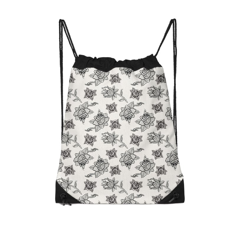 Floral drawing Accessories Drawstring Bag Bag by Dustin Klein's Artist Shop