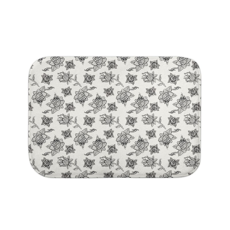 Floral drawing Home Bath Mat by DustinKlein's Artist Shop