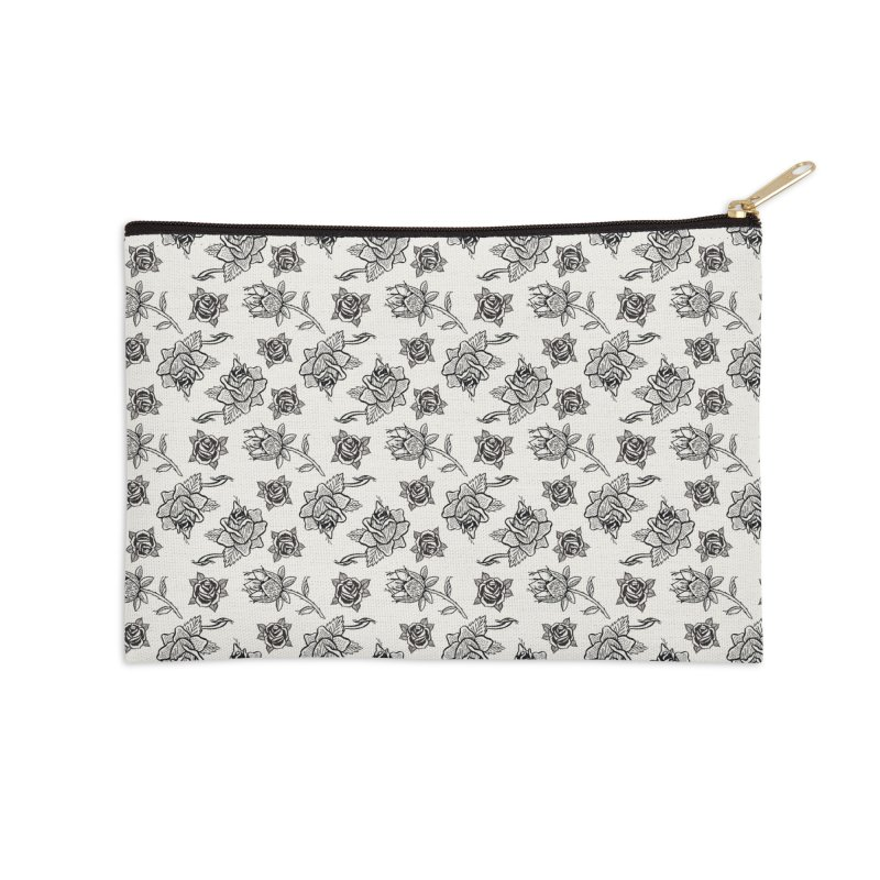 Floral drawing Accessories Zip Pouch by Dustin Klein's Artist Shop