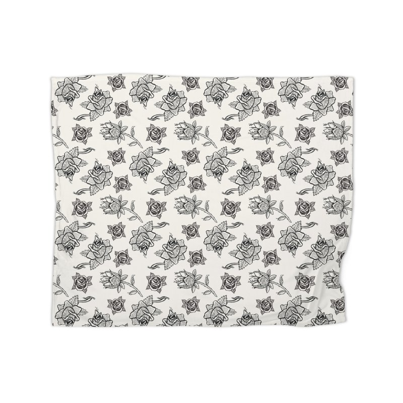 Floral drawing Home Blanket by DustinKlein's Artist Shop