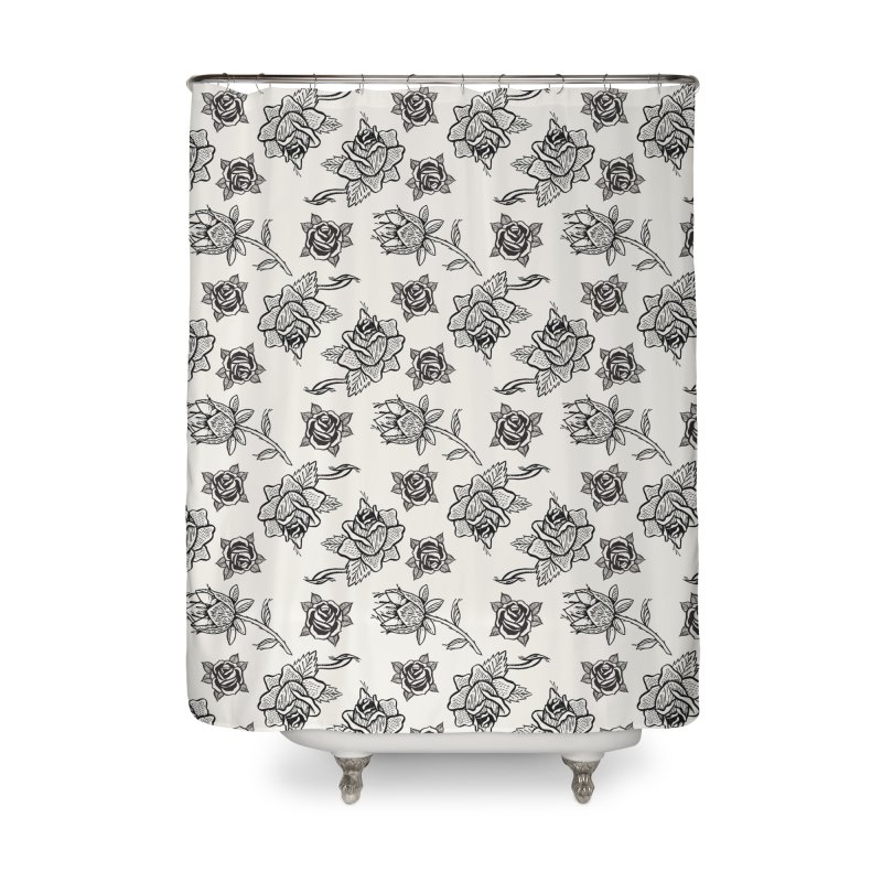 Floral drawing Home Shower Curtain by DustinKlein's Artist Shop
