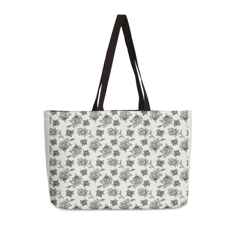 Floral drawing Accessories Weekender Bag Bag by Dustin Klein's Artist Shop