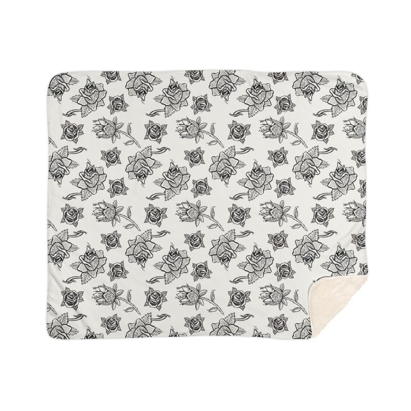Floral drawing Home Sherpa Blanket Blanket by Dustin Klein's Artist Shop