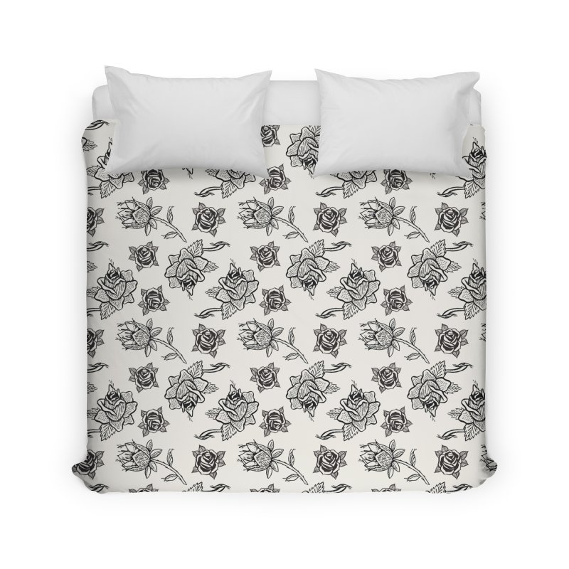 Floral drawing Home Duvet by DustinKlein's Artist Shop