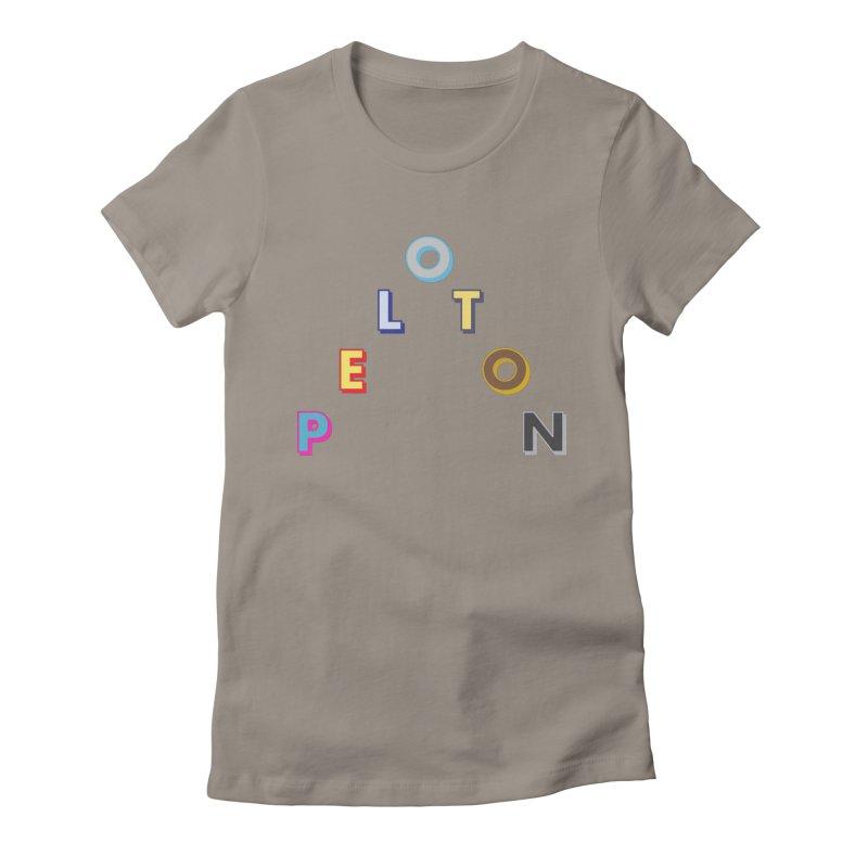 Peloton Women's Fitted T-Shirt by DustinKlein's Artist Shop