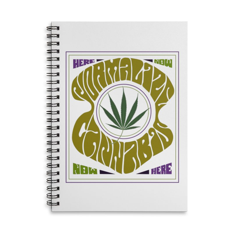 Normalize Cannabis Accessories Lined Spiral Notebook by Dustin Klein's Artist Shop