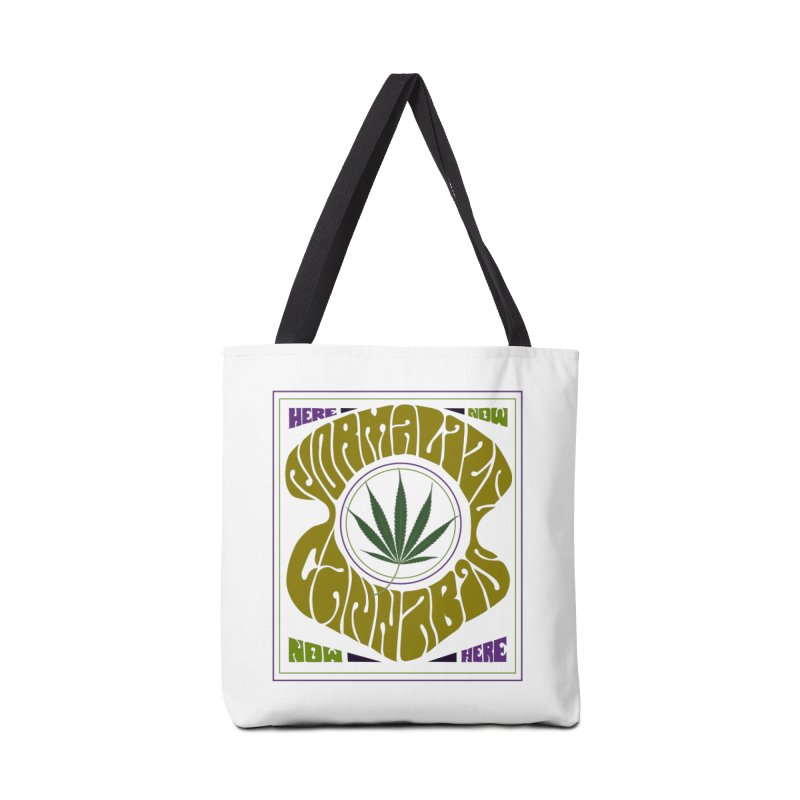 Normalize Cannabis Accessories Tote Bag Bag by Dustin Klein's Artist Shop