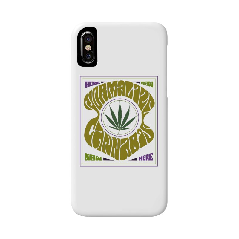 Normalize Cannabis Accessories Phone Case by Dustin Klein's Artist Shop