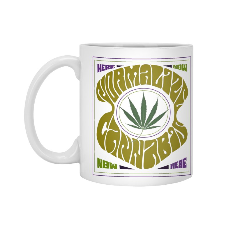 Normalize Cannabis Accessories Mug by DustinKlein's Artist Shop