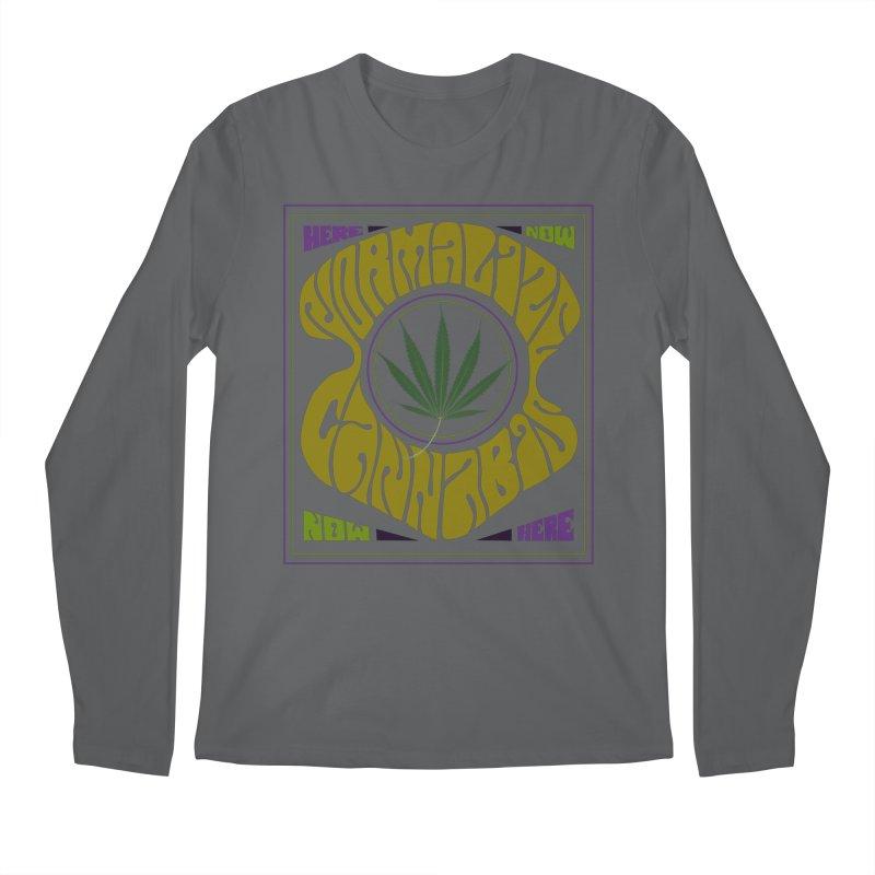 Normalize Cannabis Men's Longsleeve T-Shirt by Dustin Klein's Artist Shop