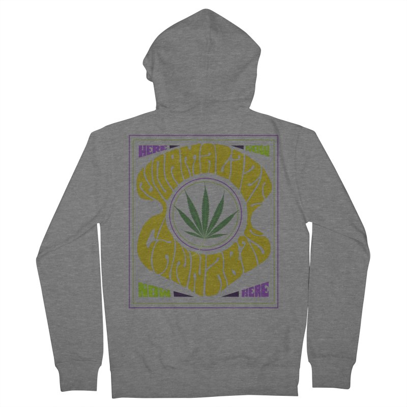 Normalize Cannabis Men's French Terry Zip-Up Hoody by Dustin Klein's Artist Shop