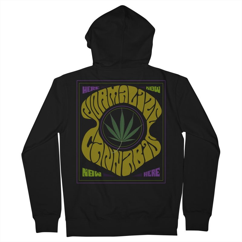 Normalize Cannabis Men's French Terry Zip-Up Hoody by DustinKlein's Artist Shop