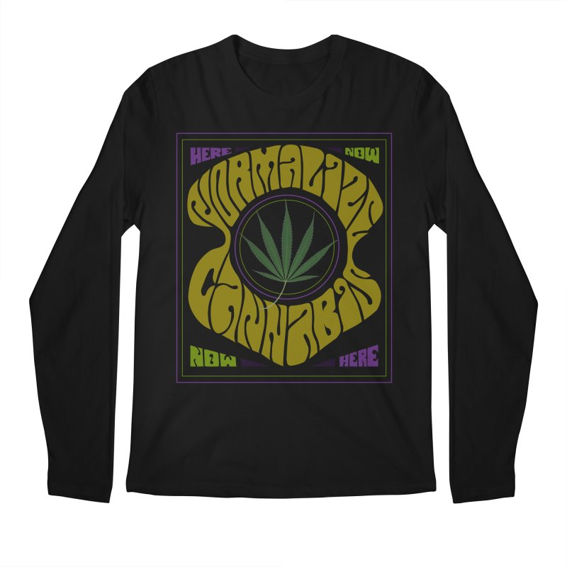 Normalize Cannabis Men's Regular Longsleeve T-Shirt by DustinKlein's Artist Shop