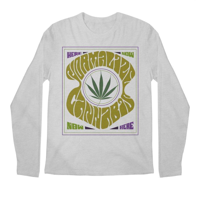 Normalize Cannabis Men's Regular Longsleeve T-Shirt by Dustin Klein's Artist Shop