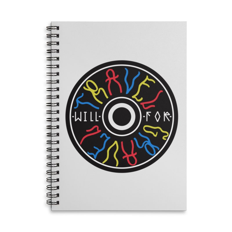 Will Travel For Gravel Accessories Lined Spiral Notebook by Dustin Klein's Artist Shop
